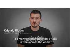 Orlando Bloom calls for protection of children in conflict
