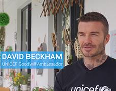 David Beckham meets children in Shanghai